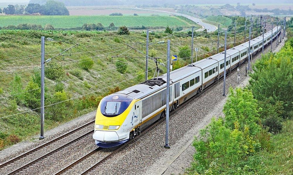 Eurostar train from Calais